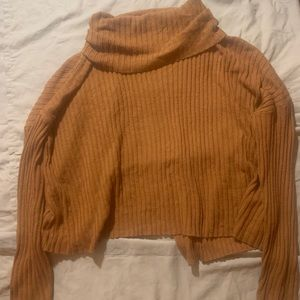 Forever 21 Cowl Neck Open Back Sweater